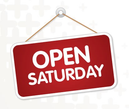 WE ARE OPEN ON SATURDAYS!!