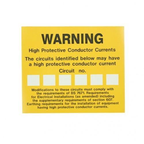 High Integrity Earthing Labels Pack 10