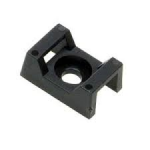 Nylon cradle cable tie support Pk 100 black 9mm