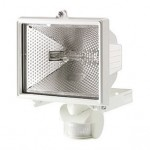 Spectra PIR floodlight white c/w lamp 1 yr g'tee