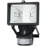 Spectra mini PIR black 150W floodlight 140degree
